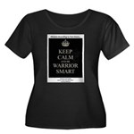 Keep Calm and Be Warrior Smart Plus Size T-Shirt