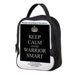 Keep Calm And Be Warrior Smart Neoprene Lunch Bag