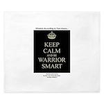 Keep Calm and Be Warrior Smart King Duvet