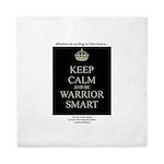 Keep Calm and Be Warrior Smart Queen Duvet