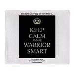 Keep Calm And Be Warrior Smart Throw Blanket