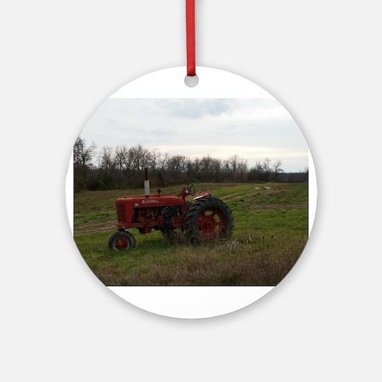 Cute Tractors Round Ornament
