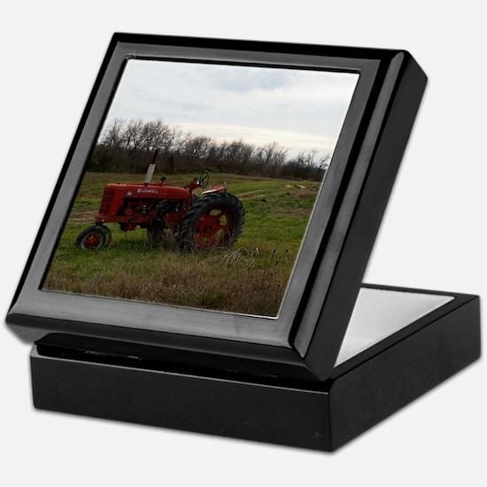 Cute Tractors Keepsake Box