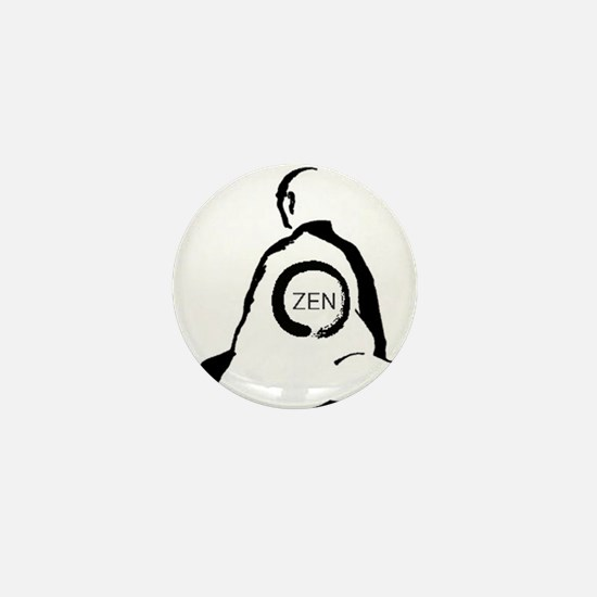 Zen Monk Mini Button