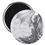 """Watch Dragon Drawing 2.25"""" Magnet (10 pack)"""
