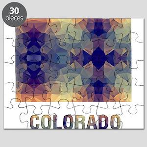 Mosaic Map COLORADO Puzzle