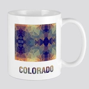 Mosaic Map COLORADO Mugs