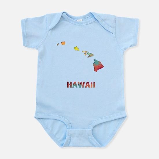 Mosaic Map HAWAII Body Suit