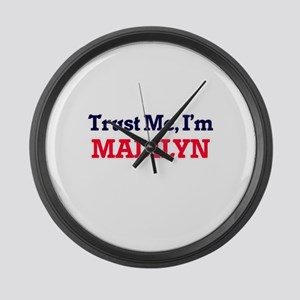 Trust Me, I'm Madilyn Large Wall Clock