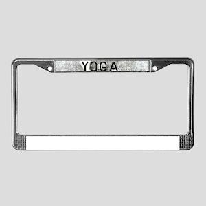 yoga feel the burn License Plate Frame