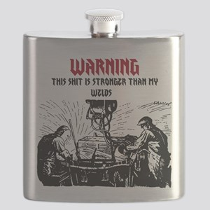 Stronger Than My Welds Flask