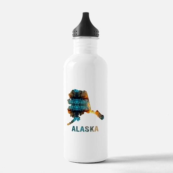 Mosaic Map ALASKA Water Bottle