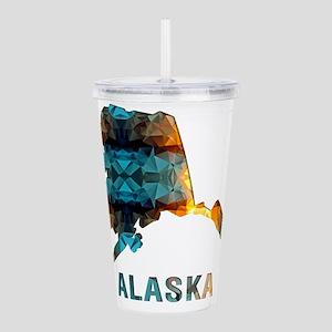 Mosaic Map ALASKA Acrylic Double-wall Tumbler