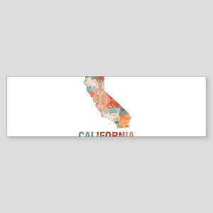 Mosaic Map CALIFORNIA Bumper Sticker
