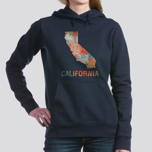 Mosaic Map CALIFORNIA Women's Hooded Sweatshirt