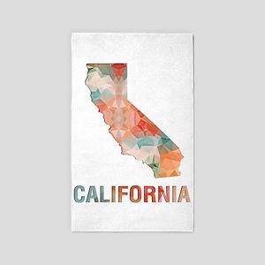 Mosaic Map CALIFORNIA Area Rug