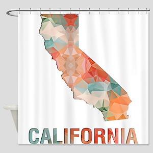 Mosaic Map CALIFORNIA Shower Curtain