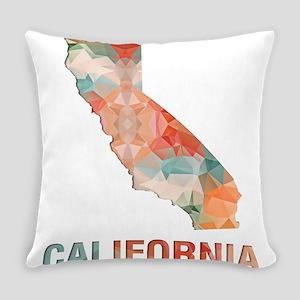 Mosaic Map CALIFORNIA Everyday Pillow