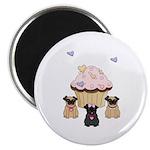 Pug Dog Cupcakes Magnet