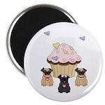 "Pug Dog Cupcakes 2.25"" Magnet (10 pack)"