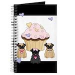 Pug Dog Cupcakes Journal