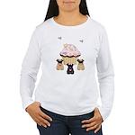 Pug Dog Cupcakes Women's Long Sleeve T-Shirt