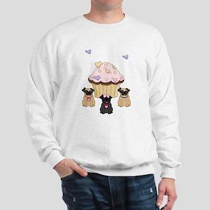 Pug Dog Cupcakes Sweatshirt