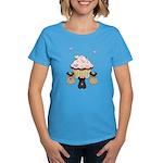 Pug Dog Cupcakes Women's Dark T-Shirt