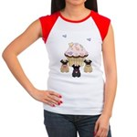 Pug Dog Cupcakes Women's Cap Sleeve T-Shirt
