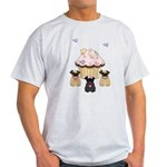 Pug Dog Cupcakes Light T-Shirt