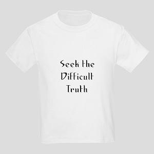 Seek the Difficult Truth Kids Light T-Shirt