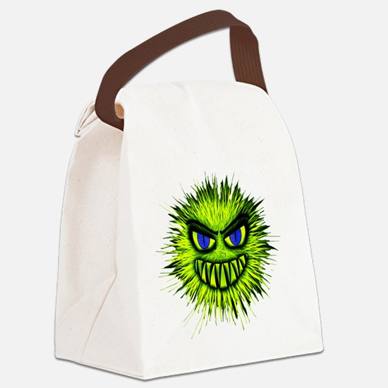 Cute Green monster Canvas Lunch Bag