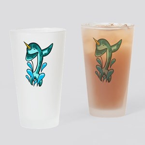 Dabbing Narwhal Drinking Glass