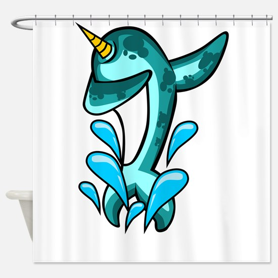 Dabbing Narwhal Shower Curtain