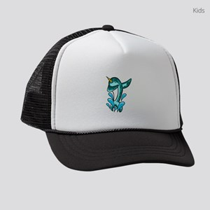 Dabbing Narwhal Kids Trucker hat