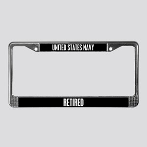 United State Navy Retired License Plate Frame