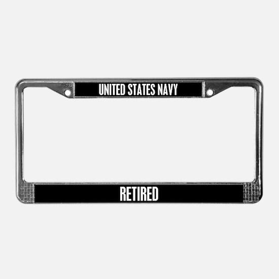 United State Navy Retired License Plate Frame