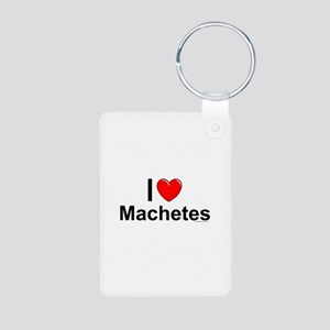 Machetes Aluminum Photo Keychain