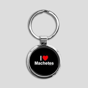 Machetes Round Keychain
