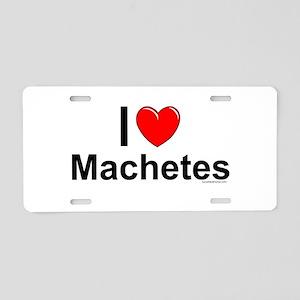 Machetes Aluminum License Plate