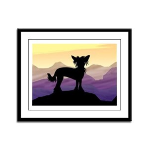 Chinese Crested Purple Mt. Framed Panel Print