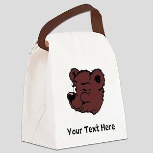 Bear Winking (Custom) Canvas Lunch Bag