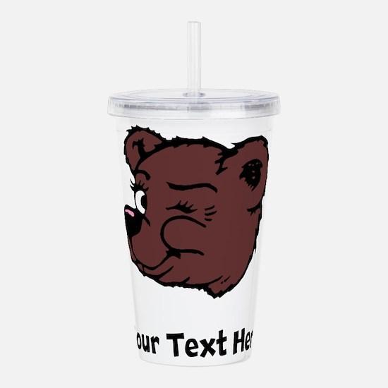 Bear Winking (Custom) Acrylic Double-wall Tumbler