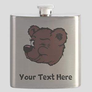 Bear Winking (Custom) Flask