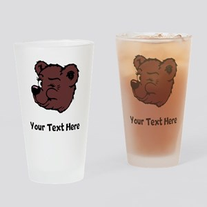 Bear Winking (Custom) Drinking Glass