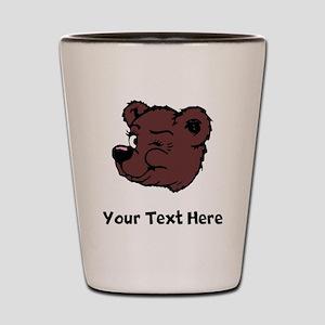 Bear Winking (Custom) Shot Glass