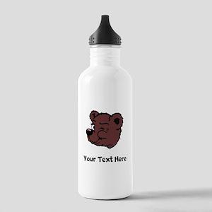 Bear Winking (Custom) Water Bottle