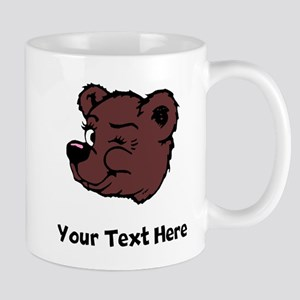 Bear Winking (Custom) Mugs