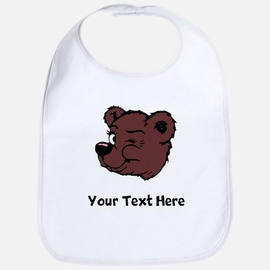 Bear Winking (Custom) Bib
