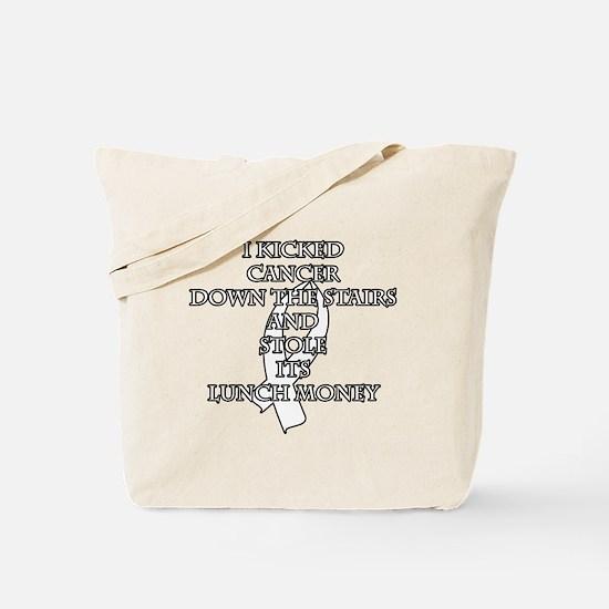 Cancer Bully (White Ribbon) Tote Bag